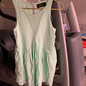 Minkpink mint green casual dress with pockets
